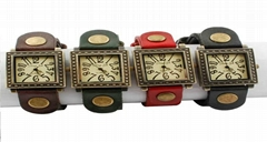 Promotional Antique Leather Wrist Watch