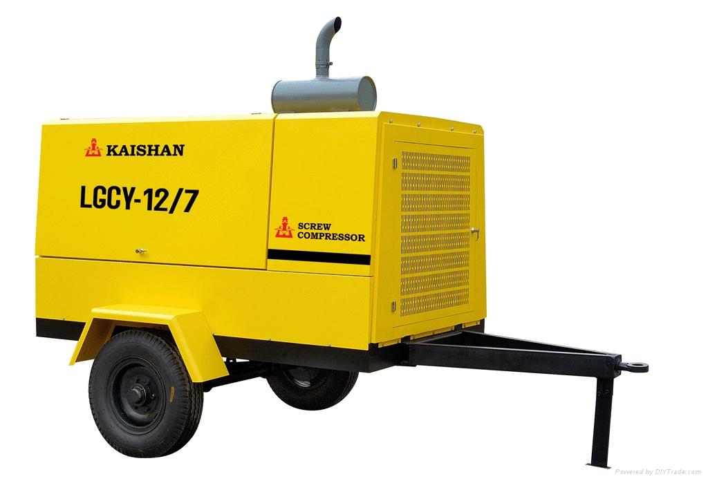 合肥12立方柴油移动螺杆空压机 1