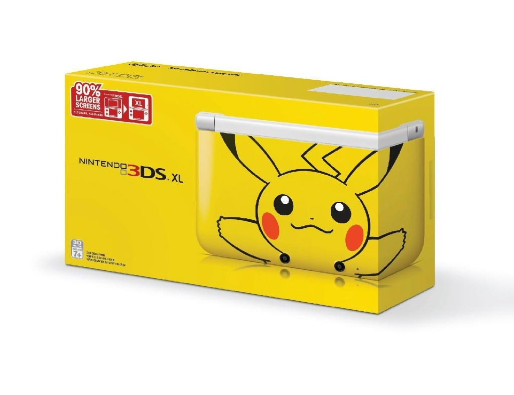 nintendo pokemon pikachu 3ds xl limited edition console china trading company video games. Black Bedroom Furniture Sets. Home Design Ideas