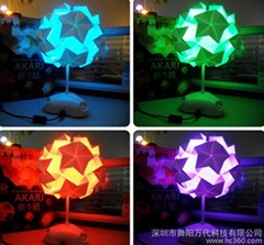 LED origami lamp