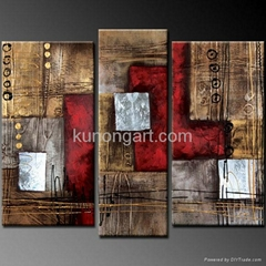 Handmade Canvas Art Abstract Paintings with Stretched Frame