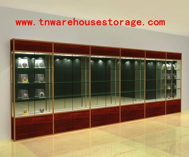 Glass Display Cabinets with Sliding Doors