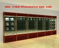 glass display cabinet with sliding door