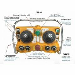 F24-60 joystick control for crane