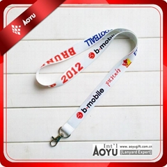 custom design polyester neck lanyard with your own logo