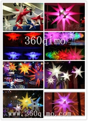 2013 Hot Inflatable Lighting Party Decoration  Spiky Star
