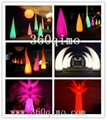 Hot Custom Colorful Inflatable Lighting decoration Cone