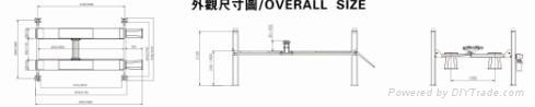 CE four post pneumatic used car lift vehicle hoist 5