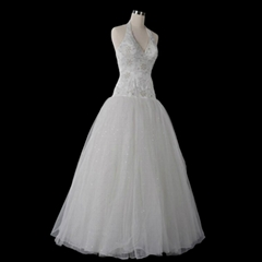 Halter Ball Gown Wedding Dress