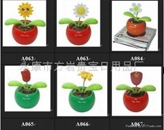 Solar flip flap,solar energy flower,solar toy,promotion gift