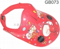 Child double sun board solar energy ventilator hat cap