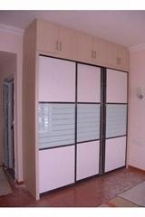 Melamine MDF Sliding door wardrobes-Modern Wardrobe Closets in bedroom