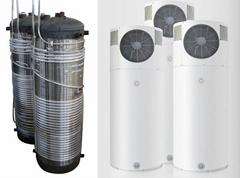 Compact heat pump aluminium coil water tank