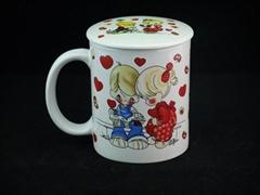lovely design ceramic coffee mug with lid