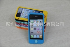 Production and supply of iphone5 smart beans mobile phone set of silica gel prot