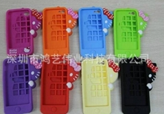 Production and supply of stereo shy cat iPhone4 mobile phone sets of silicone
