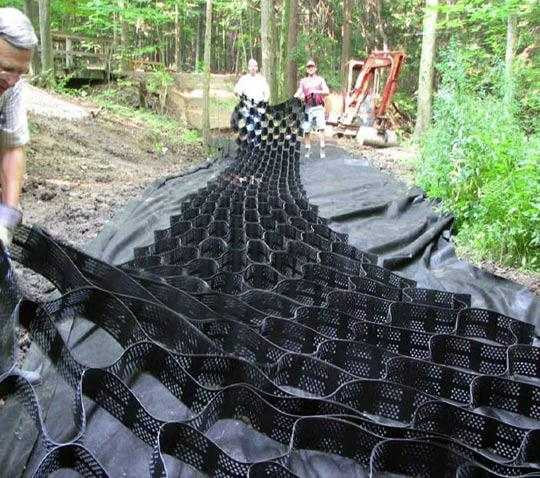HDPE geocell for retaining wall 3