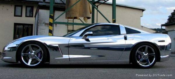 Silver chrome car color change air free bubble vinyl ch - Car exterior decoration accessories ...