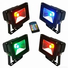 10W RGB led floodlight led flood lamp led lights led spotlight led bulbs lights