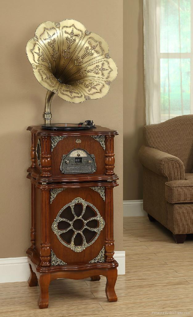 留声机 带低音炮 纯铜大喇叭 1
