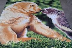 100%POLYESTER ANIMAL DESIGNS POLAR FLEECE BLANKET