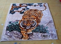 RASCHEL ANIMAL PRINTED BLANKET