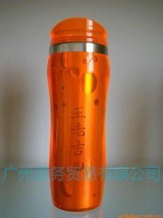 塑料插纸双层广告杯 3