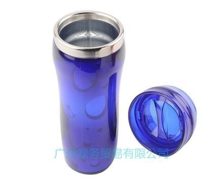 塑料插纸双层广告杯 4