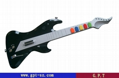 RF 2.4G wireless game guitar controller for  ps2,ps3 and wii console