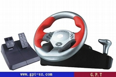 pc/ps2/PS3 steering wheel with power vibration function