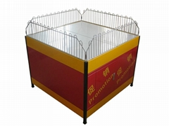 Square collapsible square for sales promotion rack