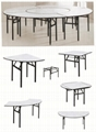 Factory price hotel round banquet folding table