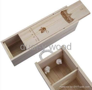 Wine boxes, wood packing boxes 1