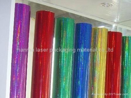 Holographic Foil/opp plastic decorative film 2