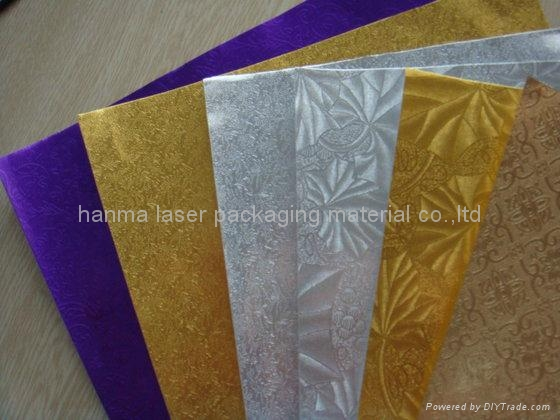 Holographic Foil/opp plastic decorative film 1