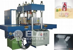 high frequency soft crease box making machine