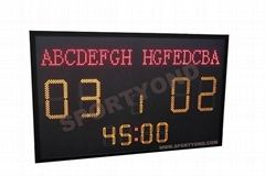 College Soccer scoreboards digital display
