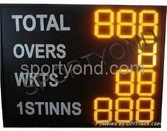 LED Cricket scoreboard digital live display