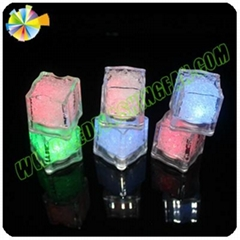 home decorative mini battery led ice cube color changing