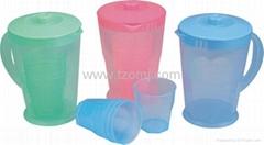 Plastic pitcher & jugs