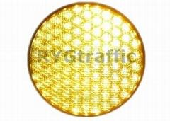300mm Cobweb Lens Yellow LED Traffic Light Module