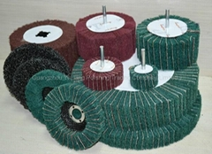 abrasive cloth aluminum oxide flap wheel for metal blending/deburring/cleaning.