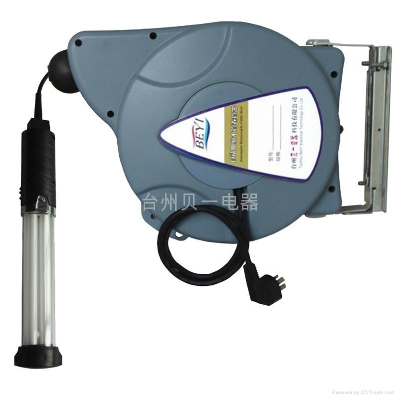 供应贝一自动伸缩卷管器 卷线器 灯鼓 日光灯 国标橡胶线 4