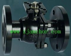 CE High platform carbon steel flanged ball valve