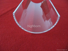 Clear half quartz tube with edge polishing