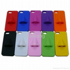Nose Style 3D soft iPhone 5 case silicon  rubber cover