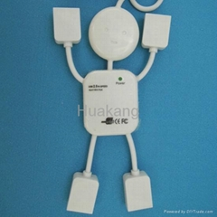 Human Shape USB Hub 1.1/2.0 with 4 Port Computer Accessories (Hot Product - 1*)