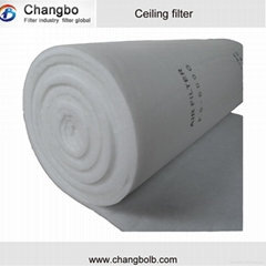 roof filter for paint spray booth