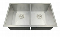 Handmade stainless steel kitchen sink