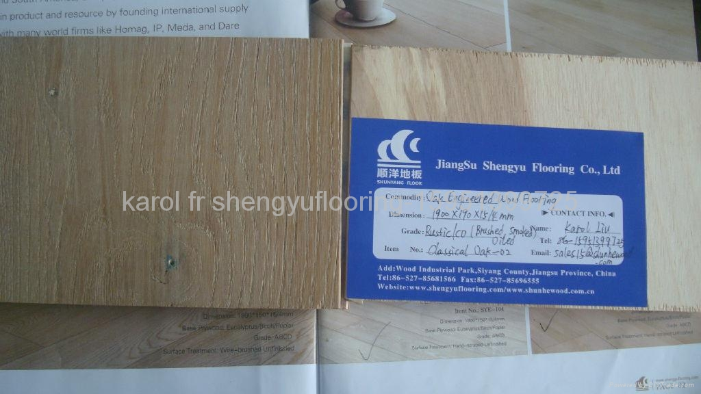 Oak Engineered Wood Flooring Classical Oak02 Shunyang China